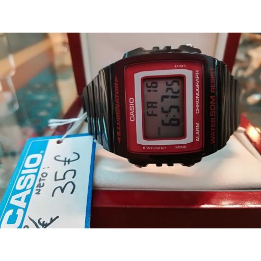 Reloj Casio De Hombre Digital Rojo Y Negro Multifuncion