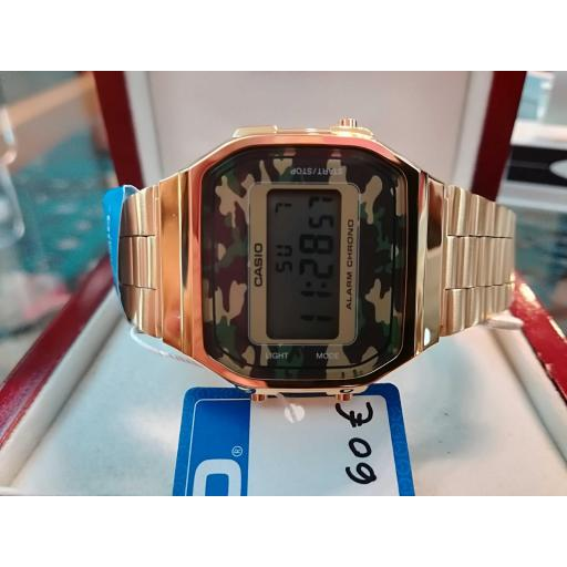 Reloj Casio Digital Retro Dorado Unisex