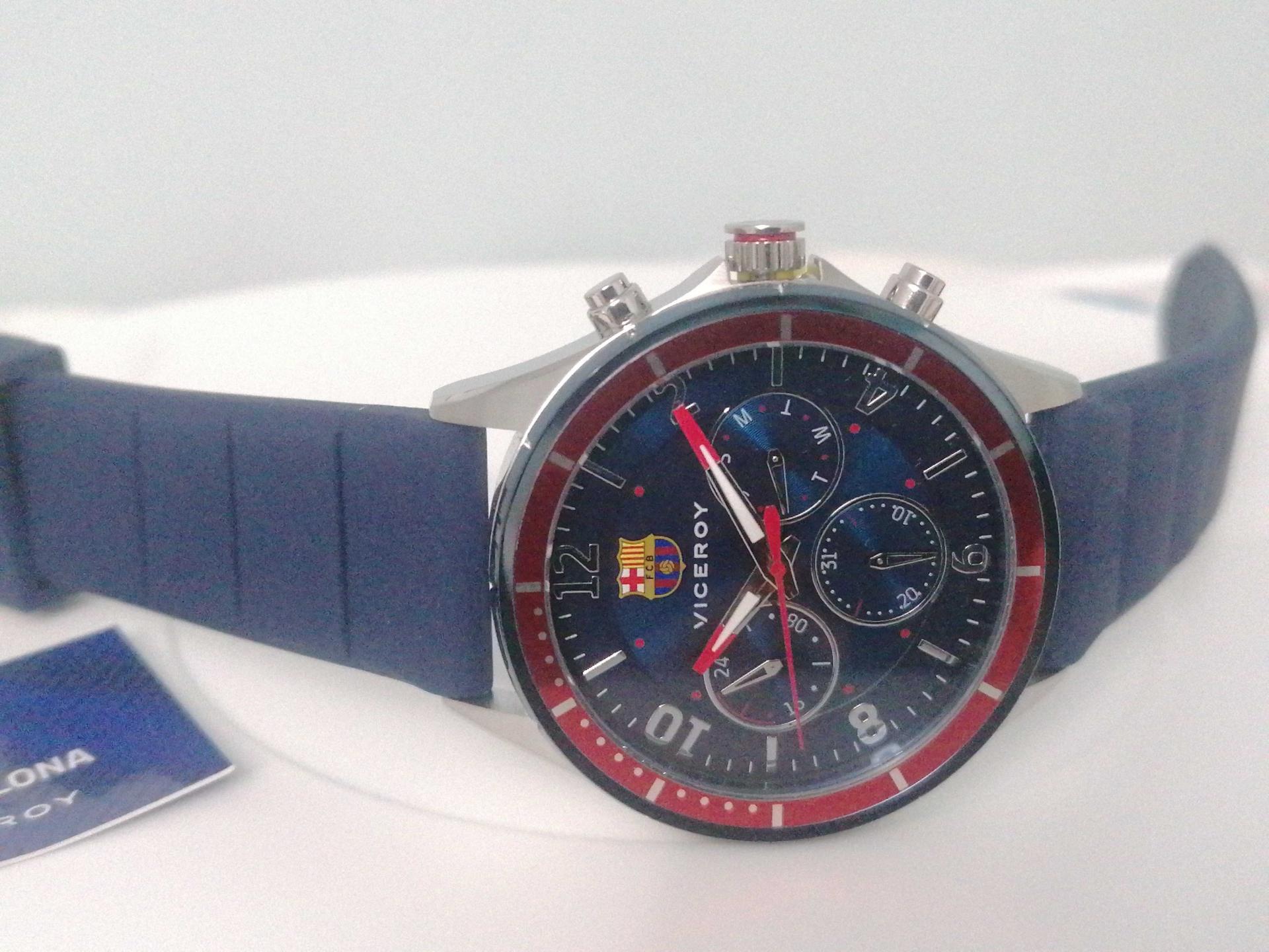 Reloj Del Barcelona Oficial Viceroy 471289-35 Correa Silicona