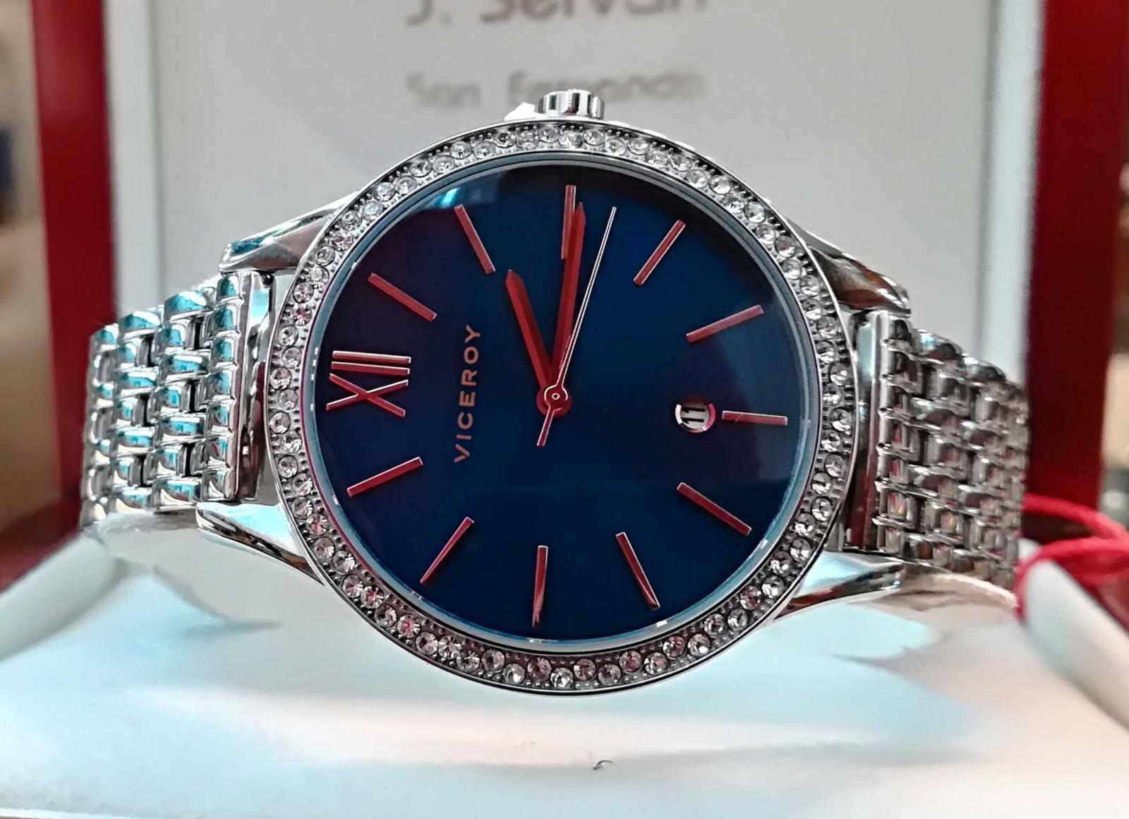 Reloj Viceroy Mujer Azul Plateado 471102-33