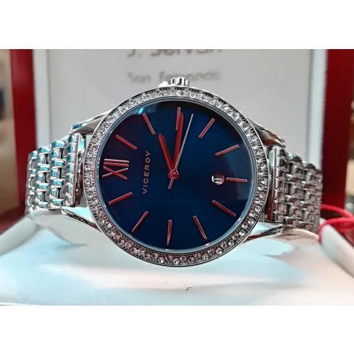 Reloj Viceroy Mujer Azul Plateado 471102-33 [0]