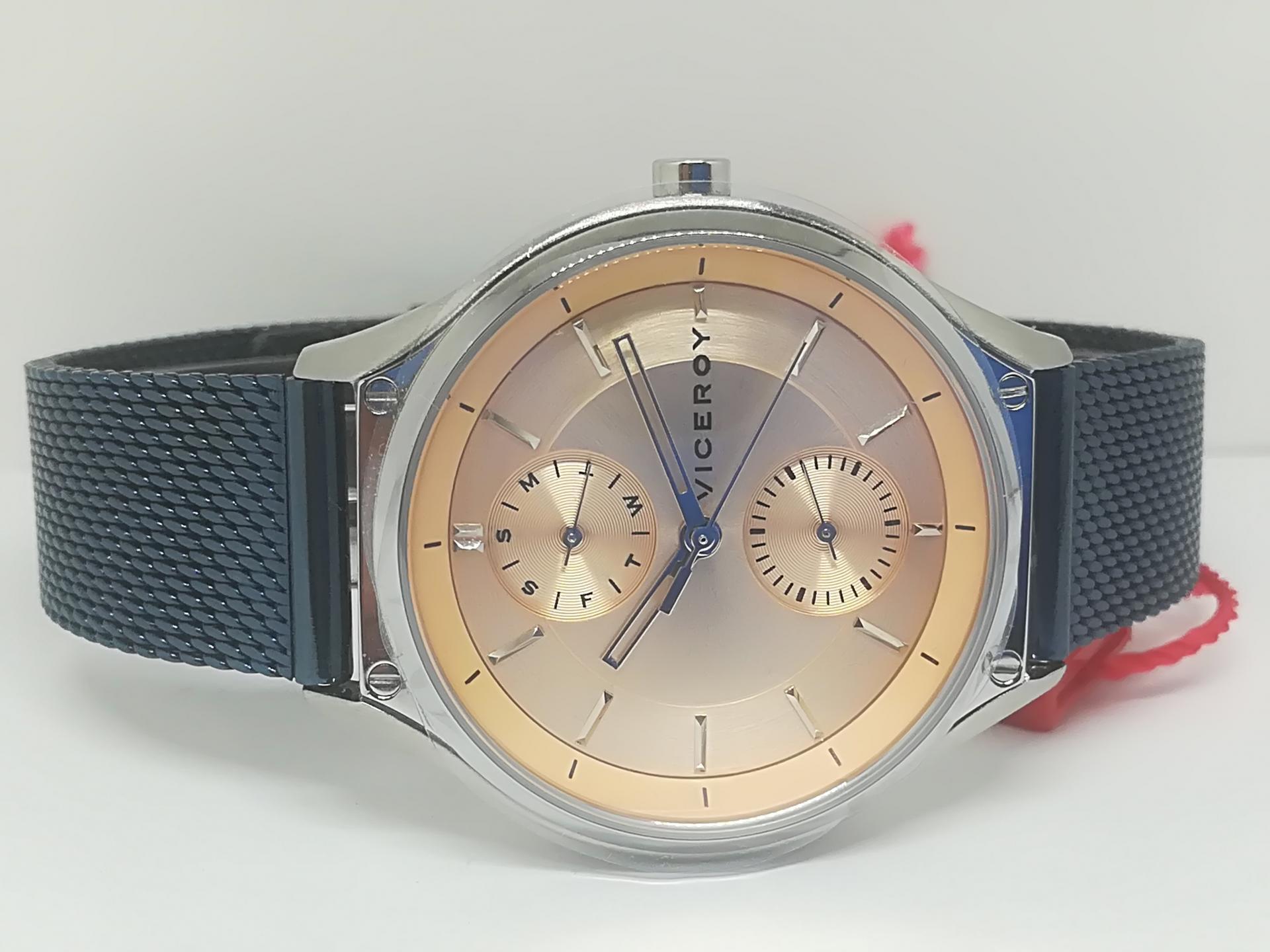 Reloj Viceroy Mujer Multifuncion Acero IP Azul 471194-97