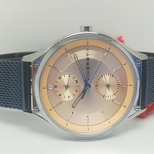 Reloj Viceroy Mujer Multifuncion Acero IP Azul 471194-97 [0]