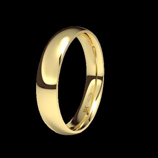 Alianza de Compromiso Modelo Almendra fabricada en Oro de 18 Quilates [0]