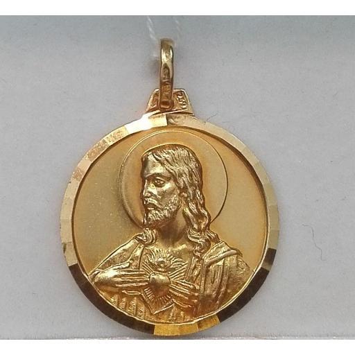 Medalla Oro Virgen Del Carmen Escapulario 18 Quilates [1]