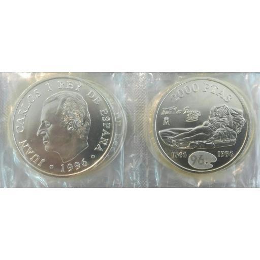 Lote De 10 Monedas Españolas De Plata Juan Carlos I 2000 Pesetas  [0]