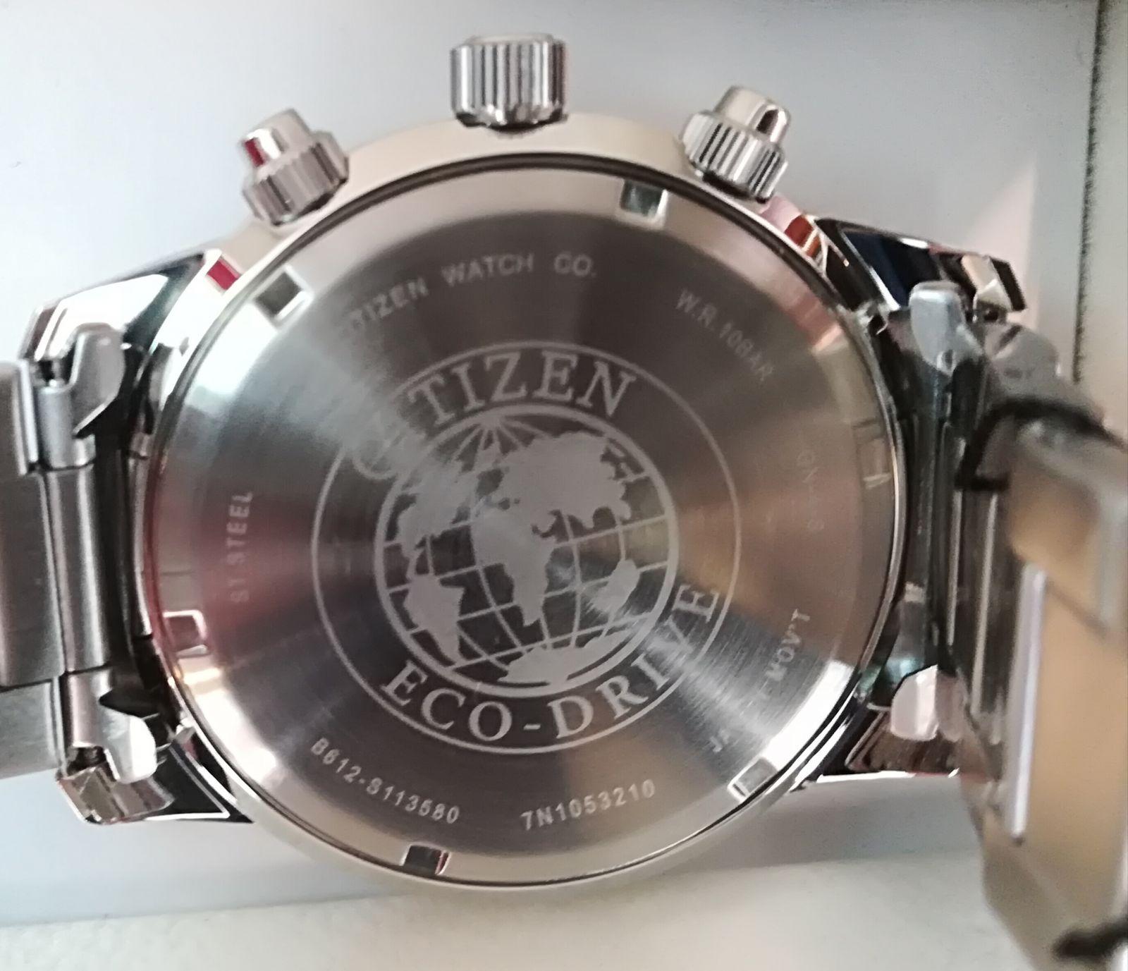 Tapa Reloj Citizen Aviator Eco Drive Enroscada