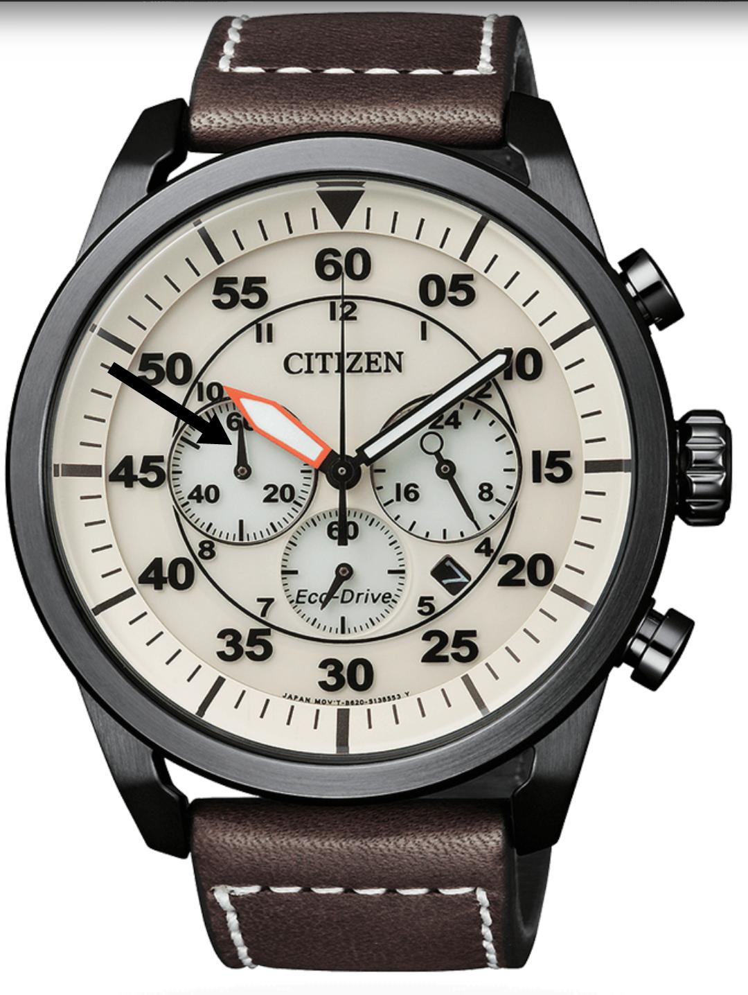 citizen eco drive aviator marcación 60 minutos