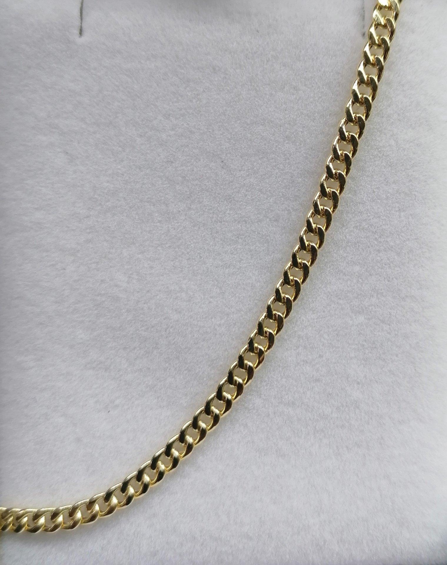 Cadena barbada de oro amarillo 45 cm gruesa