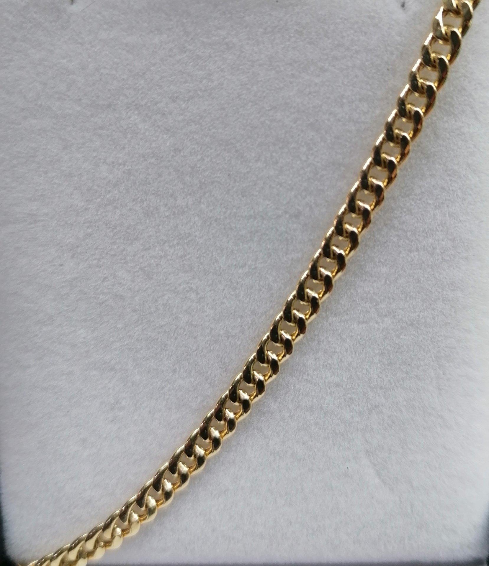 Cadena de oro 18k para mujer barbada