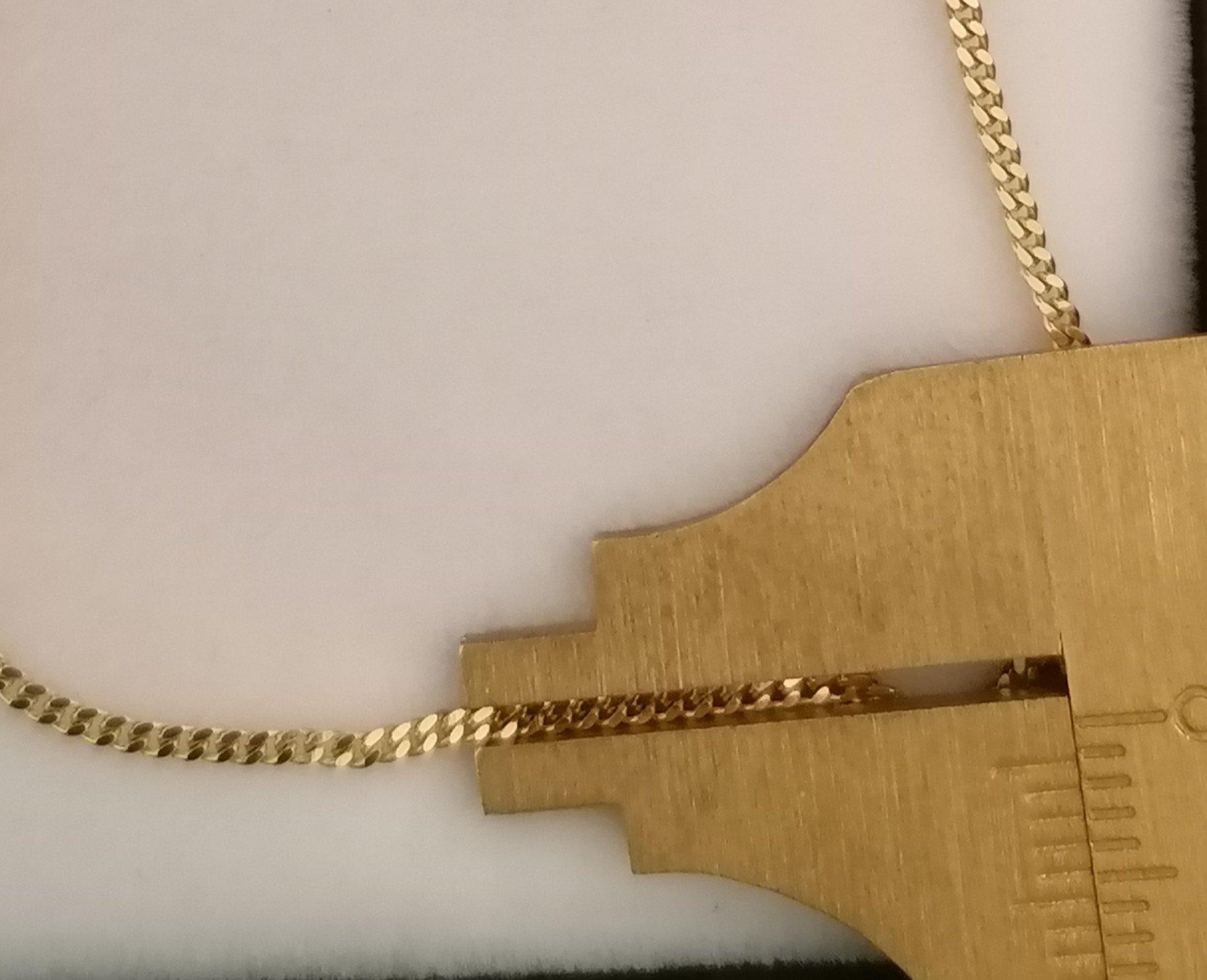 cadena barbada 60 cm y 1 mm de ancho maciza