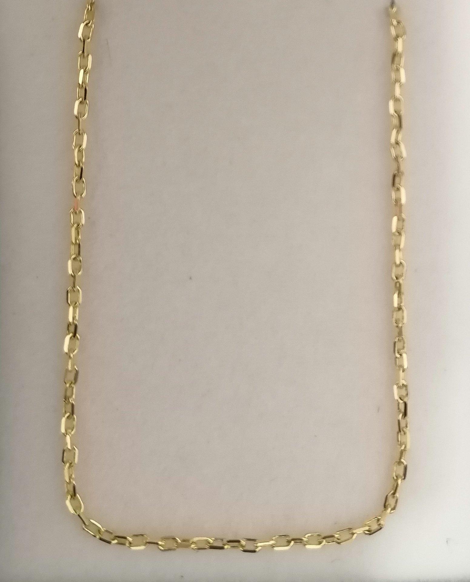 bonita cadena de oro forzada de 45 cm ideal mujer o niña