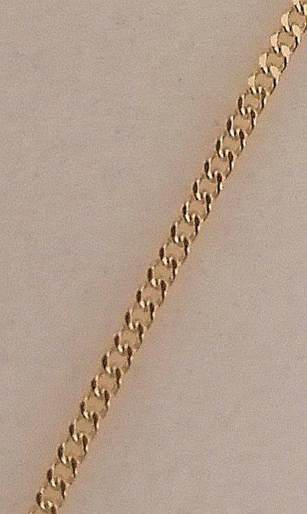 foto eslabón de cadena de oro barbada