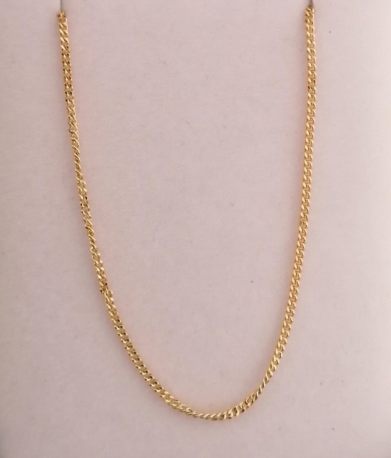 foto de cadena de oro fina en 45 cm