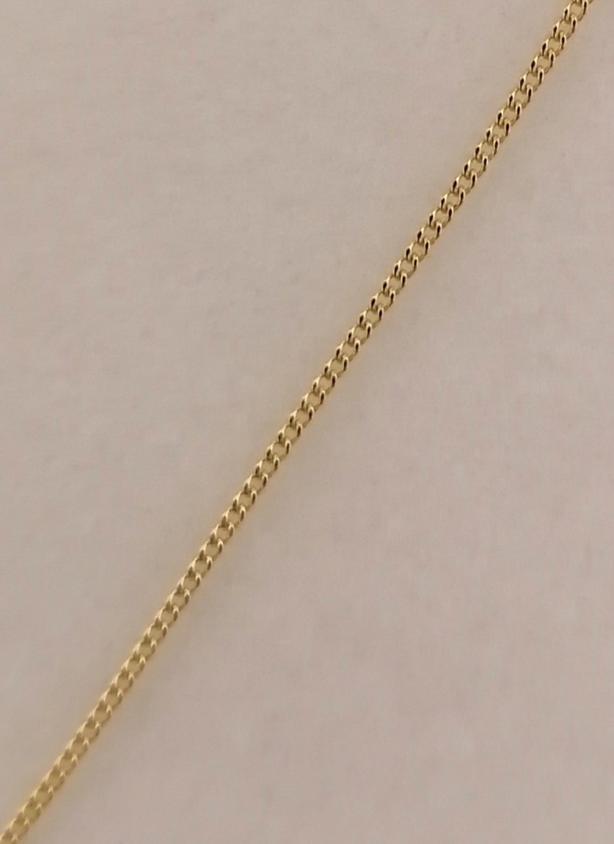 Cadena de oro barbada muy fina 50 cm de grosor