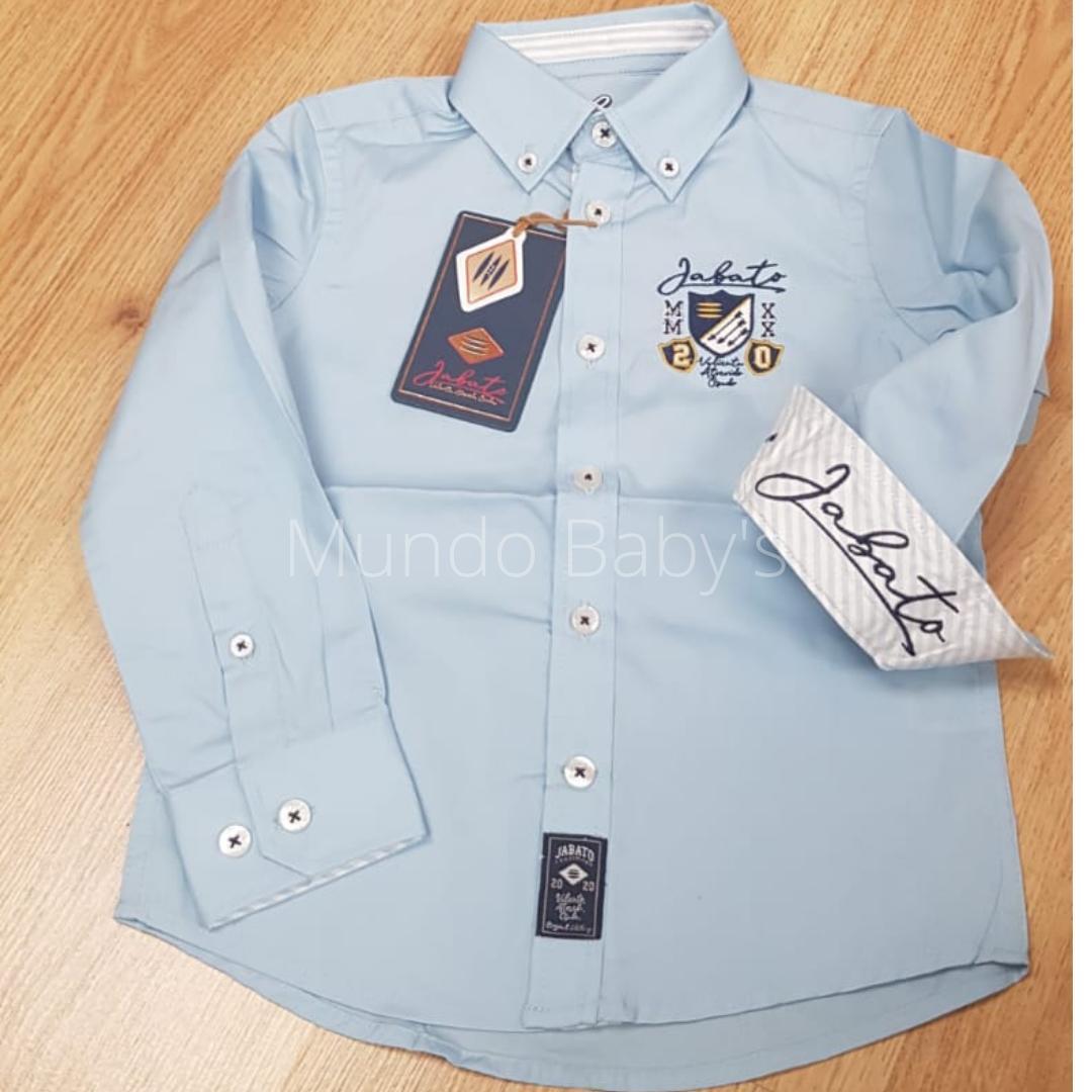 Camisa infantil celeste  bordada