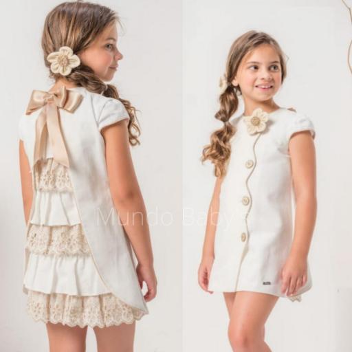 Vestido de lino con volantitos detras