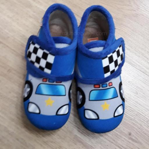 Zapatillas tipo botitas coches policías