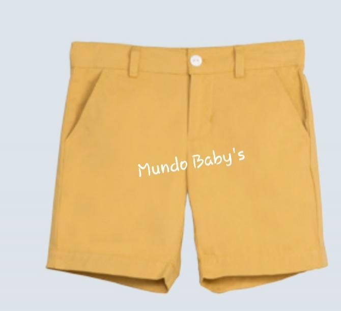 Bermuda básica infantil mostaza