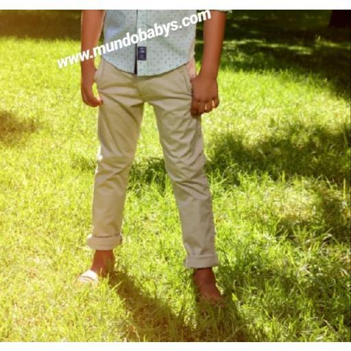 Pantalón largo beige
