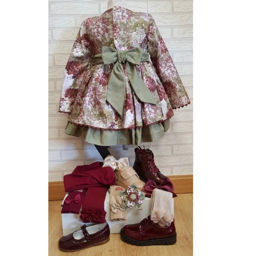 Vestido talle alto estampado hortensias  [1]