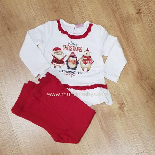 Conjunto bebé dos piezas camiseta y leggins