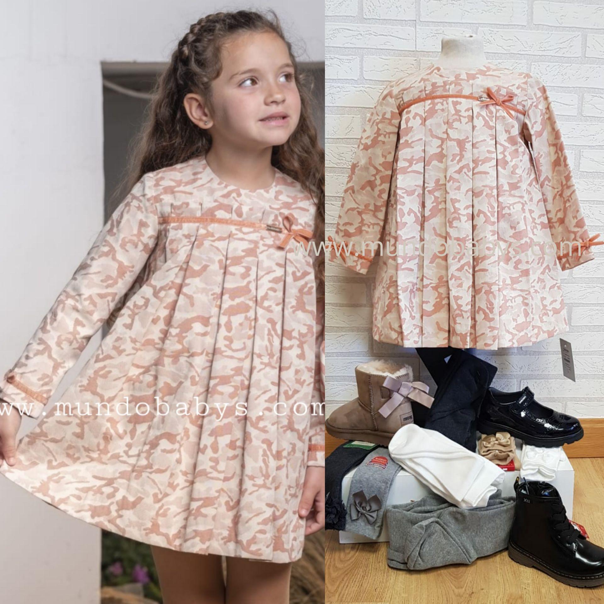 Vestido evase estampado camuflaje