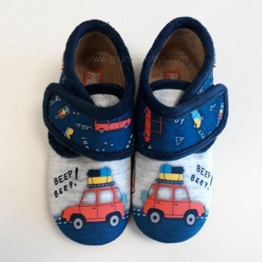 Zapatillas botitas con velcro coche Beep Berp!