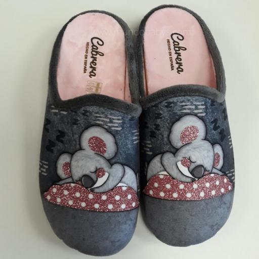 Zapatillas chica abierta estampado Koala