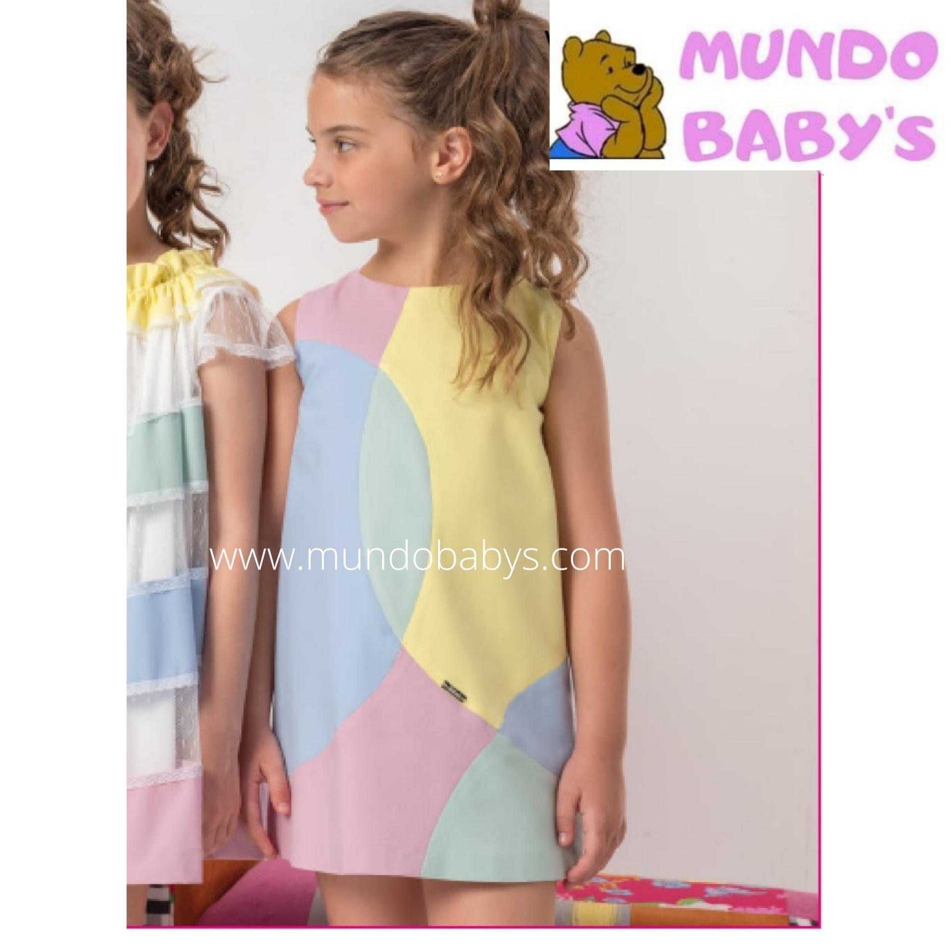 Vestido asimétrico multicolor
