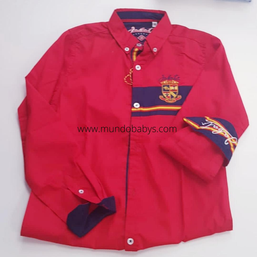 Camisa manga larga rojo escudo España