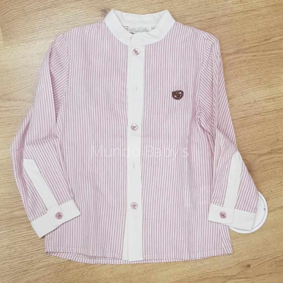 Camisa rosa palo rayas