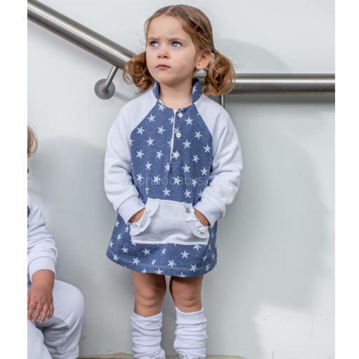 Vestido  sudadera bebé combinado