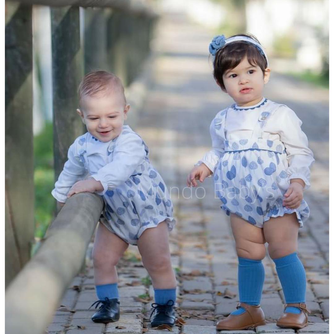Conjunto de bebé blusa y peto unisex
