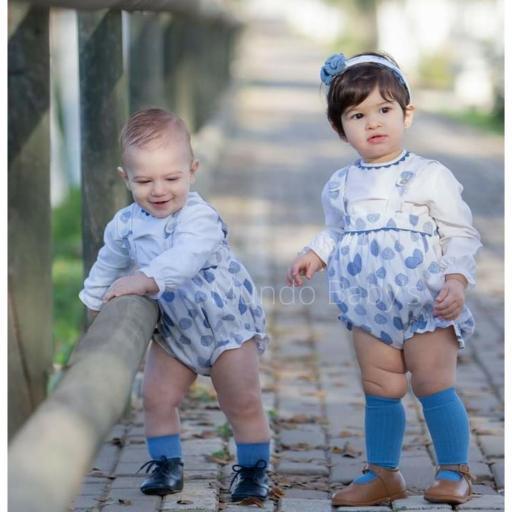 Conjunto de bebé blusa y peto unisex  [0]