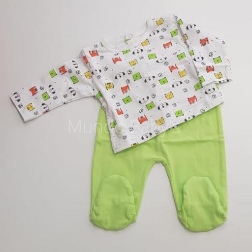 Camiseta en dog y polaina en verde [0]
