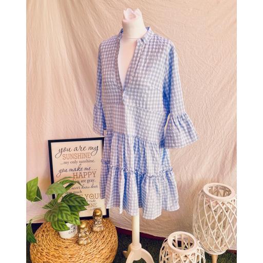 Vestido Vichy azul  [2]