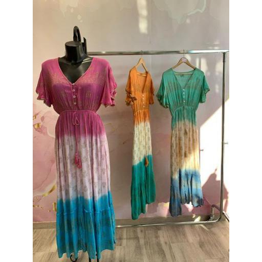 Vestido Boho bicolor
