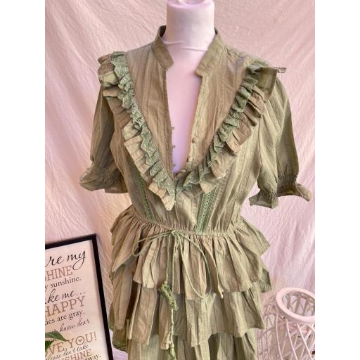 Vestido Mía verde [2]