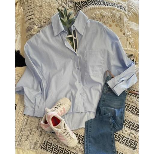 Camisa rayas azul