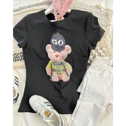 Camiseta Teddy Negra