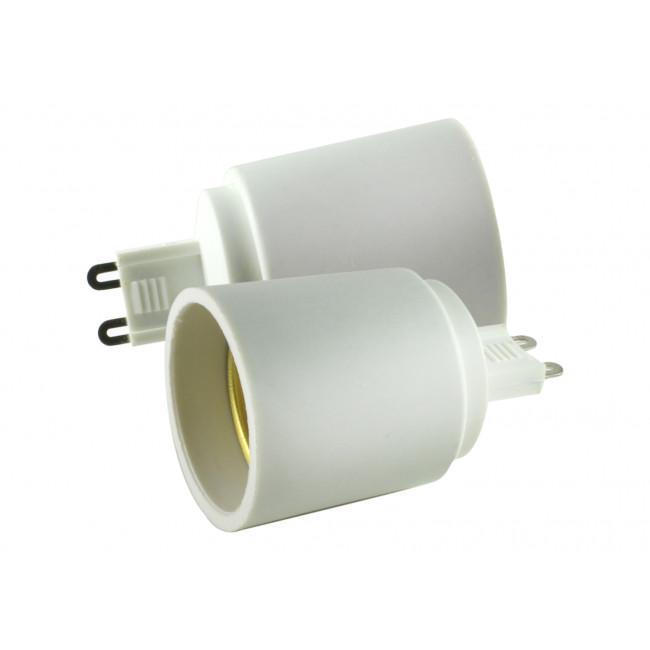 Adaptador casquillo G9 a E27 (electro)
