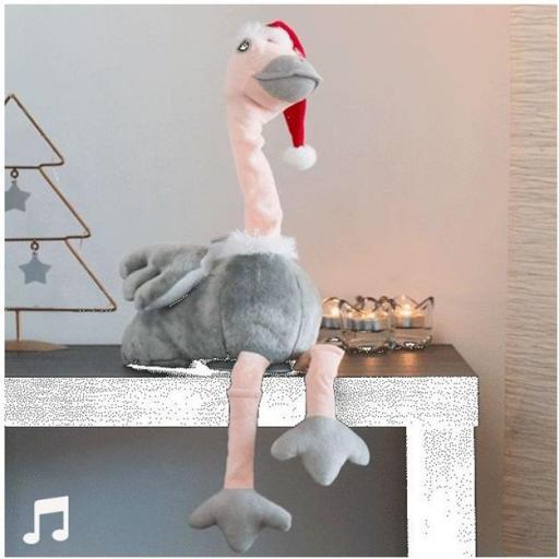 Avestruz navideño con sonido y movimiento. (CHRISTMAS PLANET)