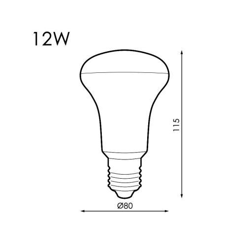 BOMBILLA LED E27 R80 12W 3000K (LEDME) [1]
