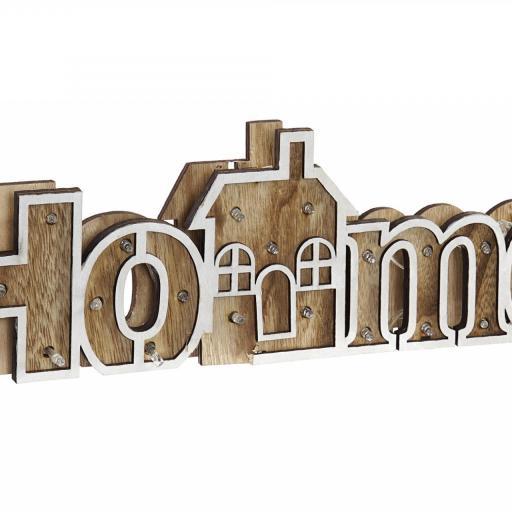 DECORACION LUMINOSA EN MADERA HOME 40X3,5X12 (ITEM INTERNATIONAL)