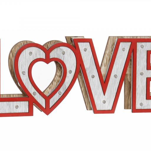 DECORACION LUMINOSA EN MADERA LOVE ROJO 35X4X12 (ITEM INTERNATIONAL) [0]