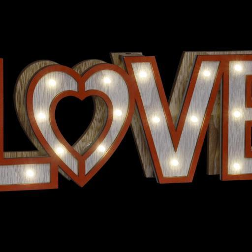 DECORACION LUMINOSA EN MADERA LOVE ROJO 35X4X12 (ITEM INTERNATIONAL) [1]