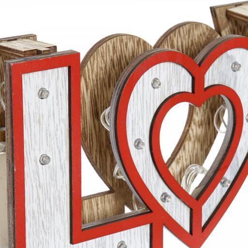 DECORACION LUMINOSA EN MADERA LOVE ROJO 35X4X12 (ITEM INTERNATIONAL) [2]