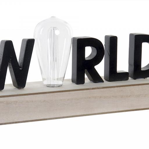 DECORACIÓN LUMINOSA LED 34X8X16 WORLD (ITEM INTERNATIONAL)