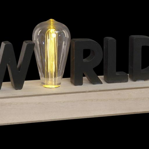 DECORACIÓN LUMINOSA LED 34X8X16 WORLD (ITEM INTERNATIONAL) [2]